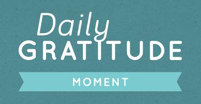 Dagelijkse dankbaarheid