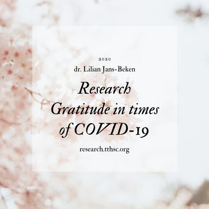 Research gratitude in times of COVID-19